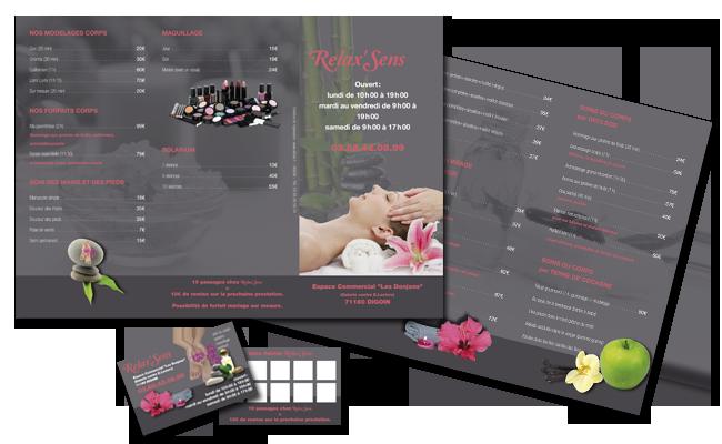 RelaxSens Brochure Au Format Dpliants 3 Volets Carte De Visite Et Fidlit Pour